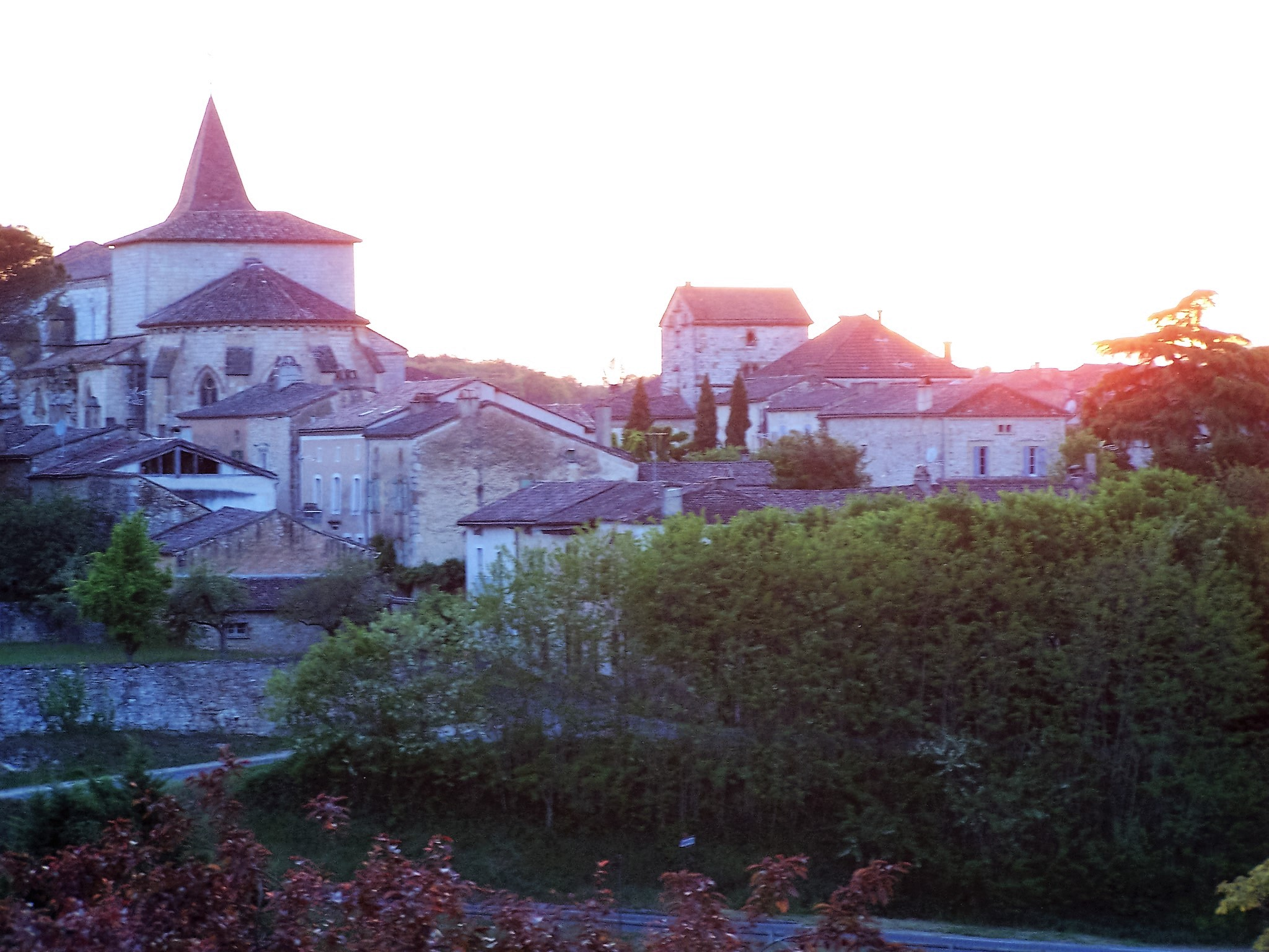 Beautiful views of Monpazier from our terrace