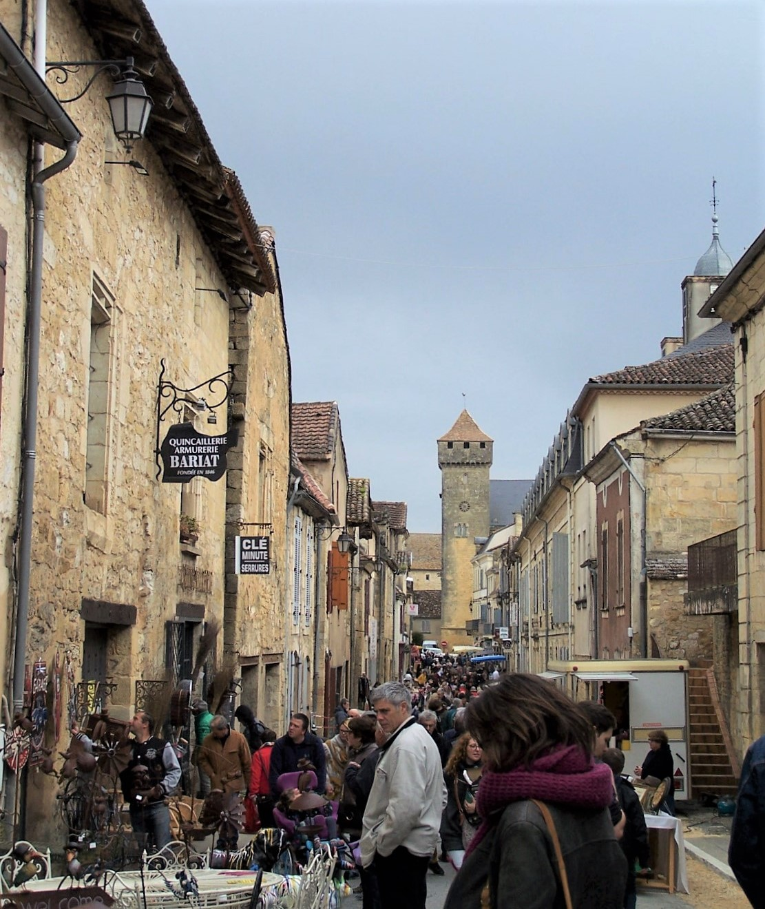 The village markets are irresistible! This is Beaumont-du-Perigord