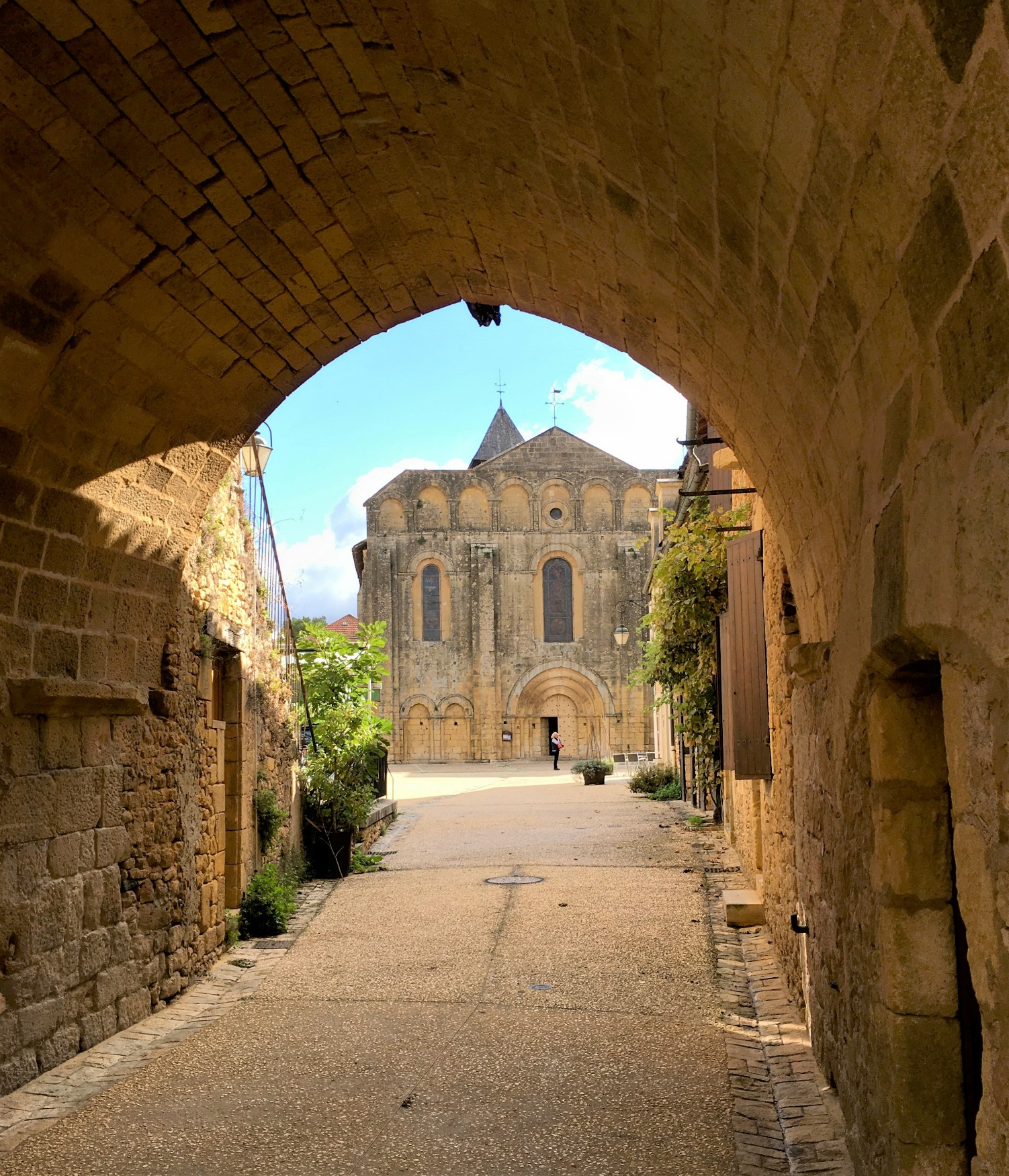 Lovely Cadouin with its UNESCO listed 12thC Abbey